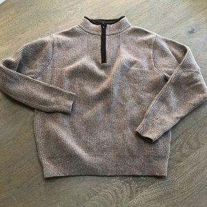 LL BEAN Lambs Wool Sweater Men's Quarter Zip M
